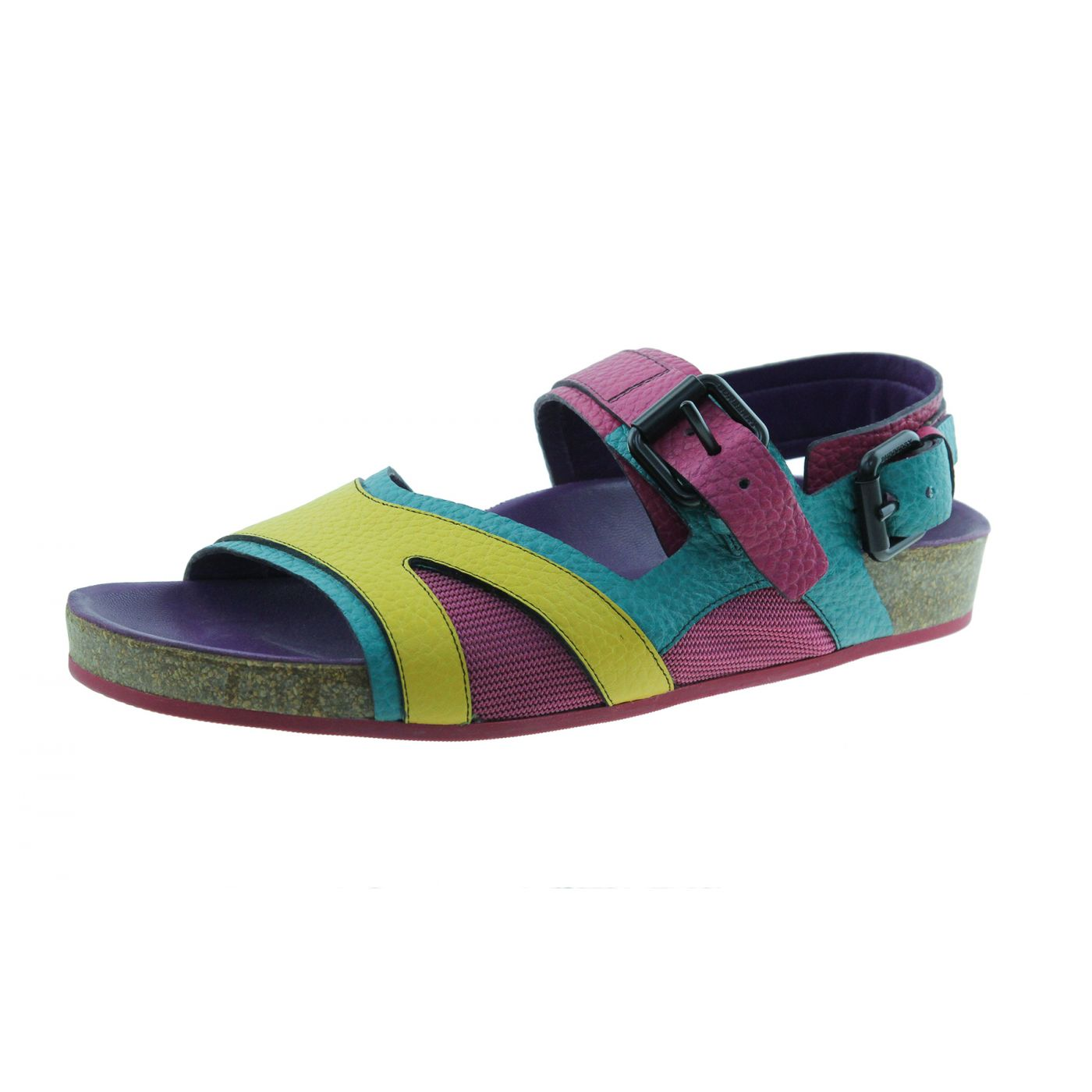 Burberry Multicolor The Field Sandals 37 1/2