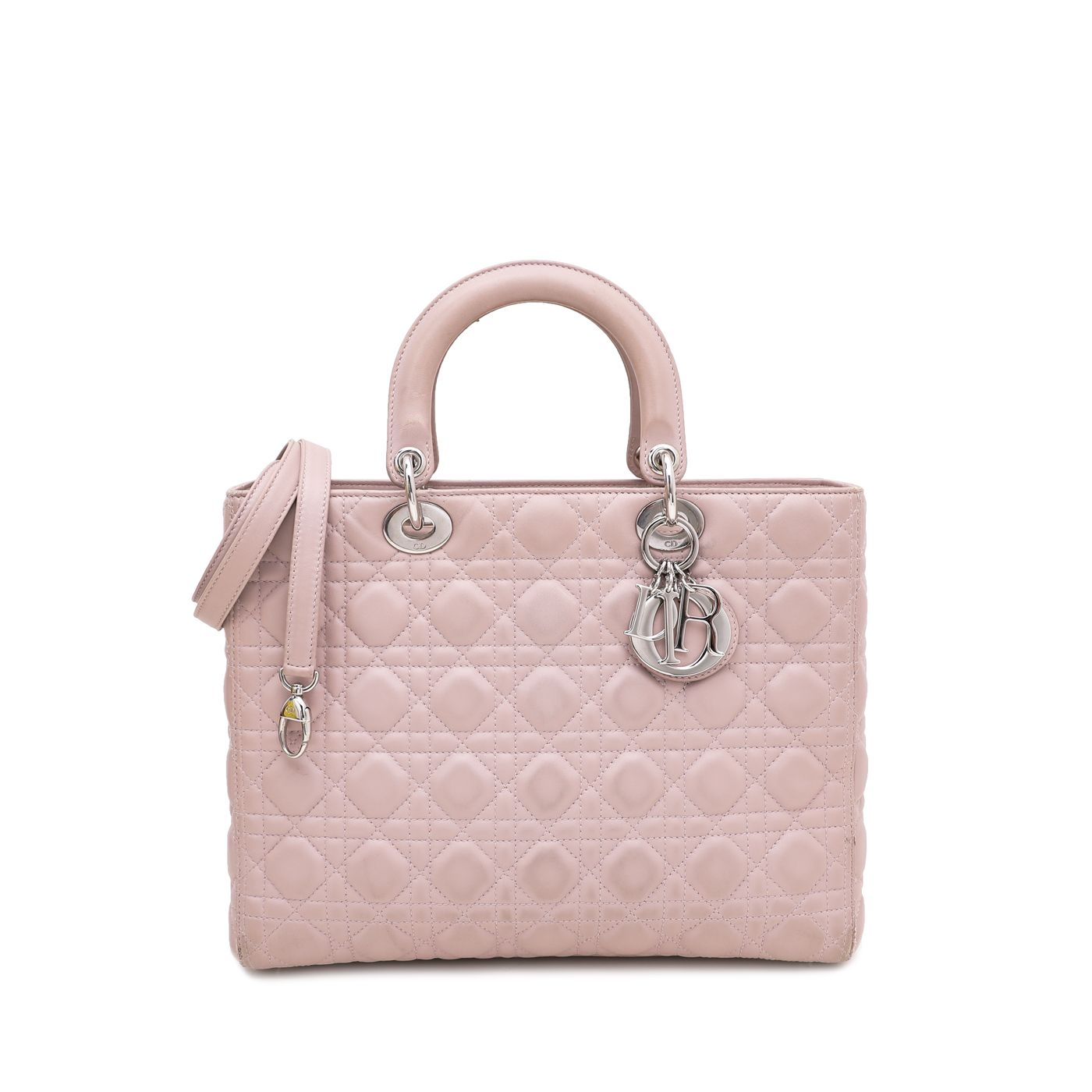 Christian Dior Nude Pink Lady Dior Large Bag