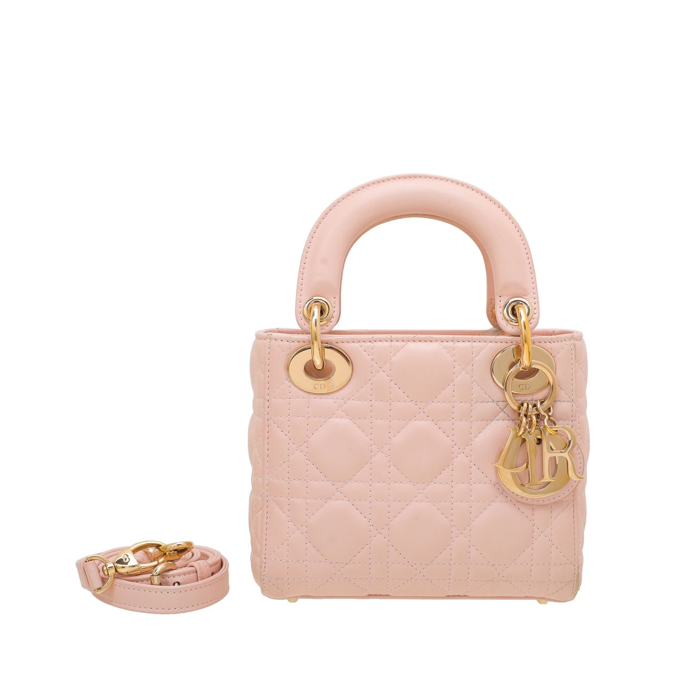 Christian Dior Light Pink Lady Dior Mini Bag