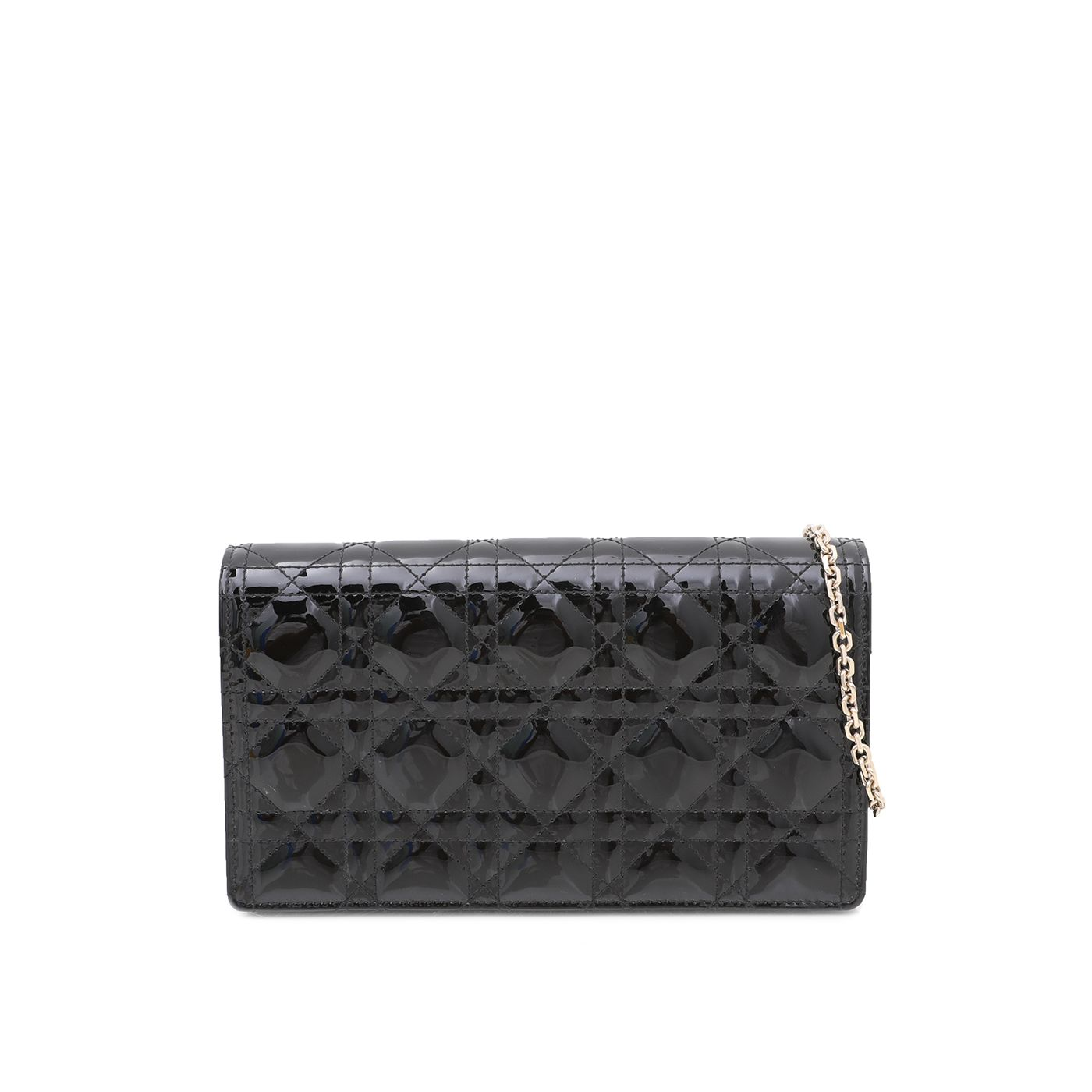 Christian Dior Black Lady Dior Chain Pouch