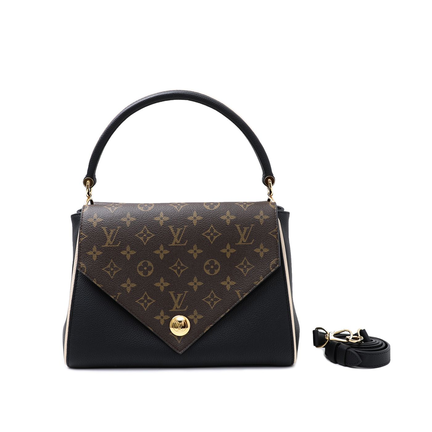 Louis Vuitton Black Double V Bag