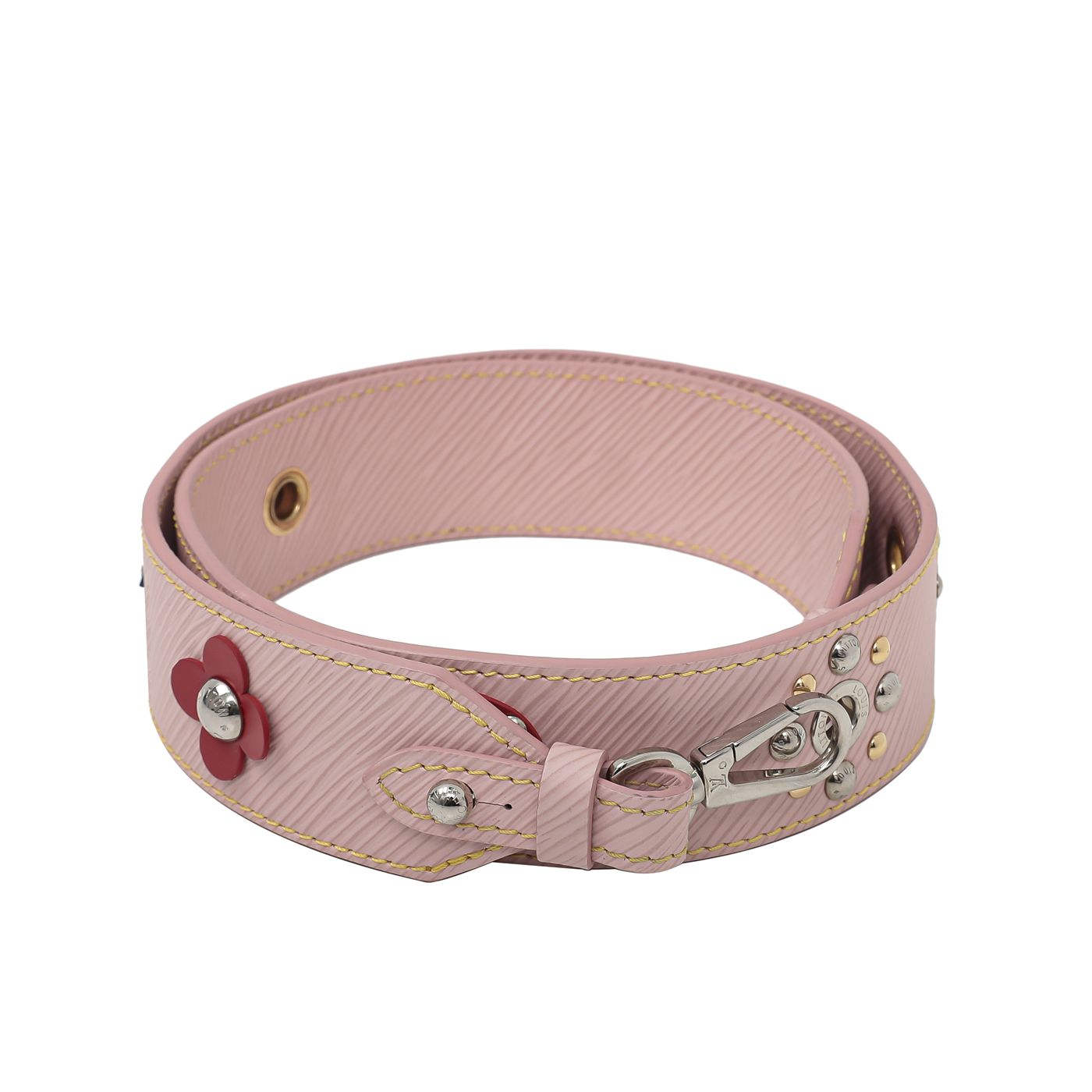 Louis Vuitton Pink Mechanical Flower Bandouliere Strap