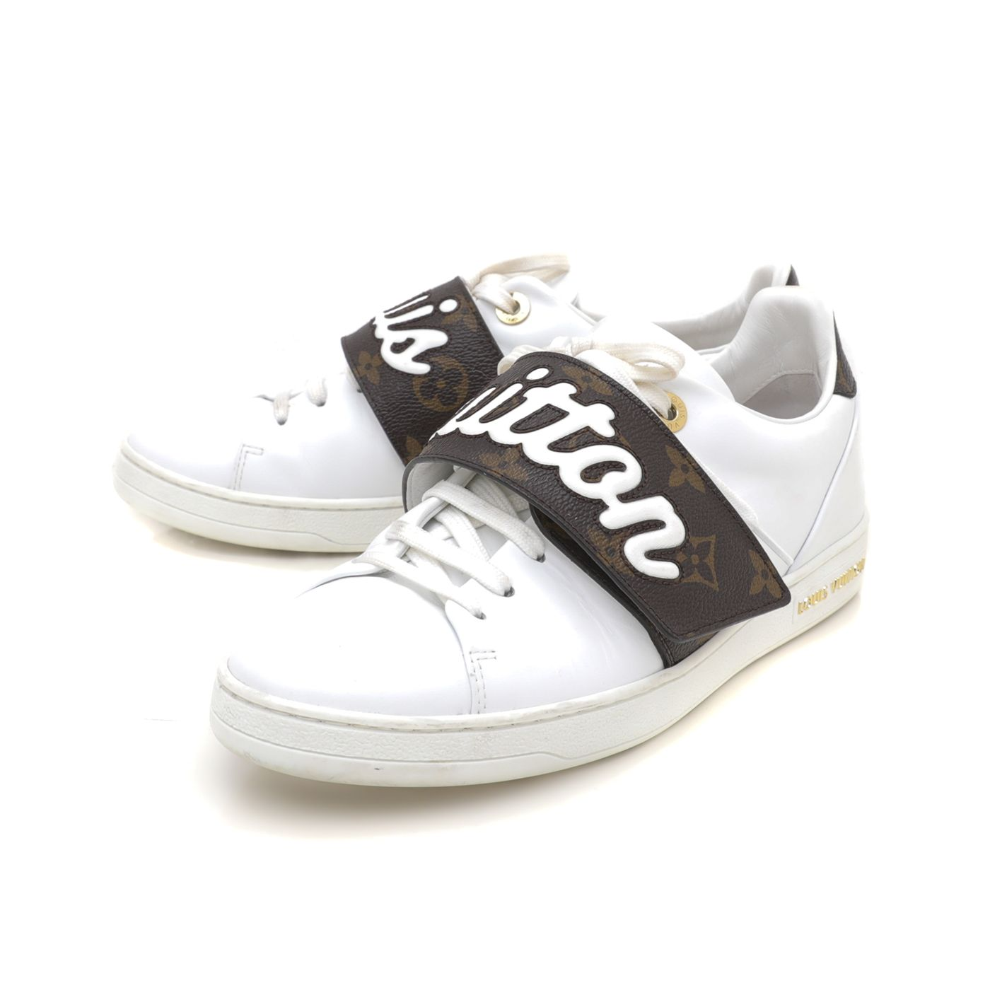 Louis Vuitton White Monogram Frontrow Sneakers 38