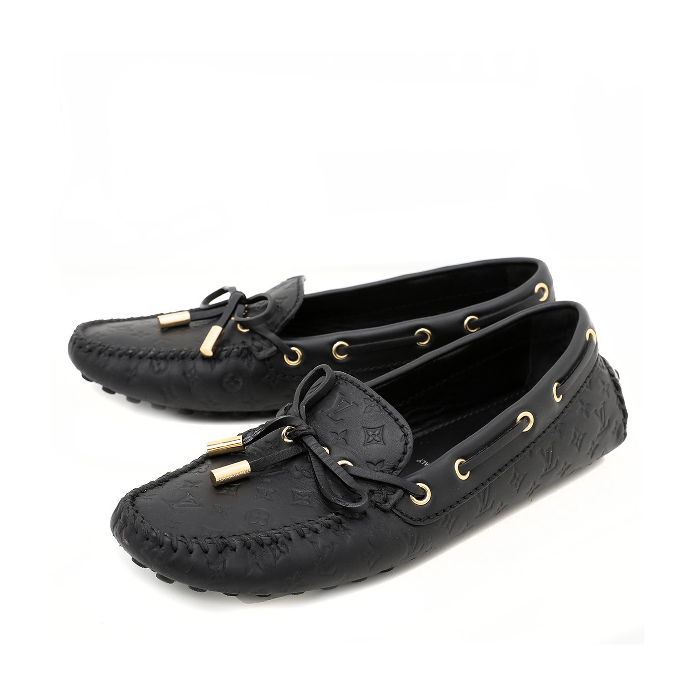 Louis Vuitton Black Gloria Loafers 36