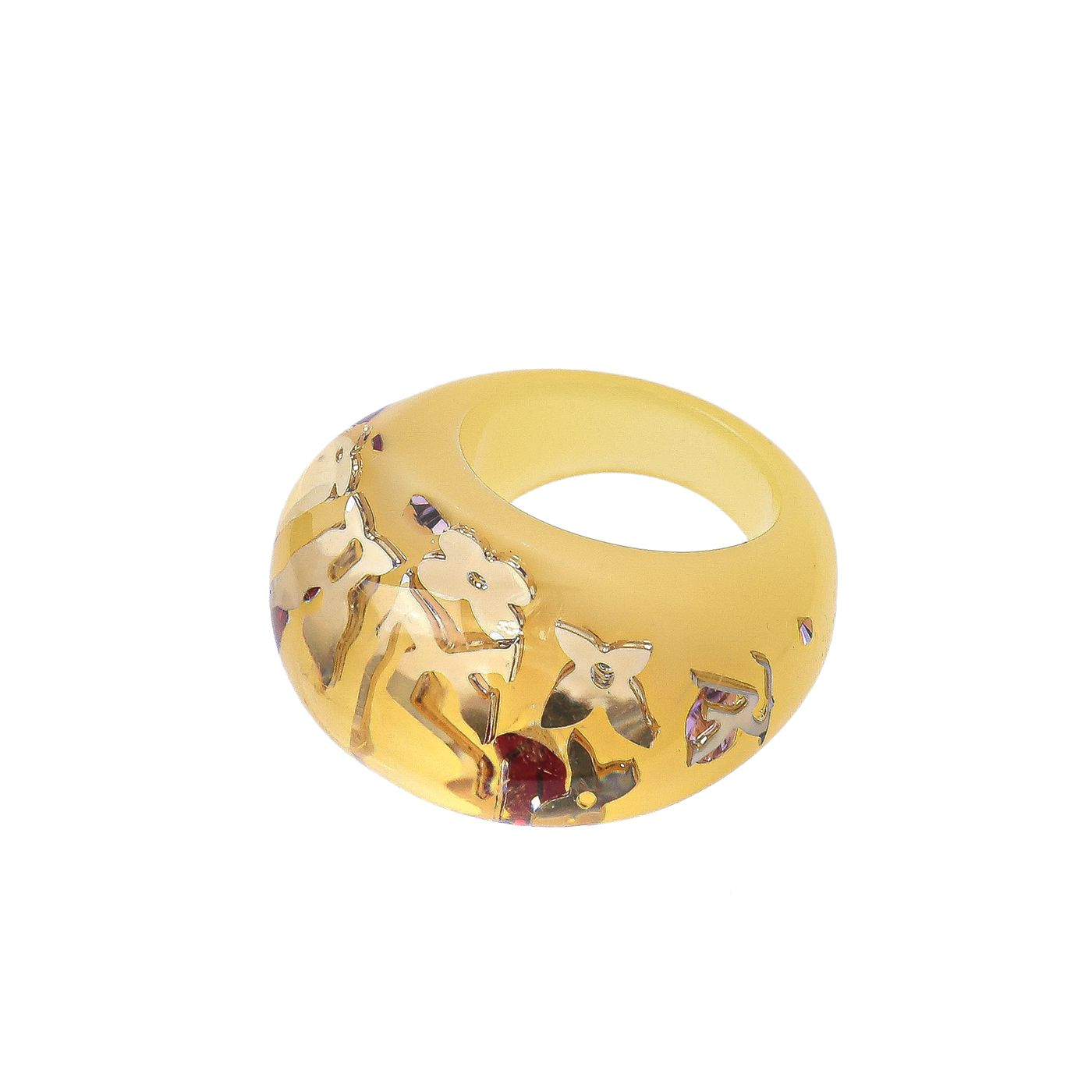 Louis Vuitton Yellow Inclusion Ring Medium