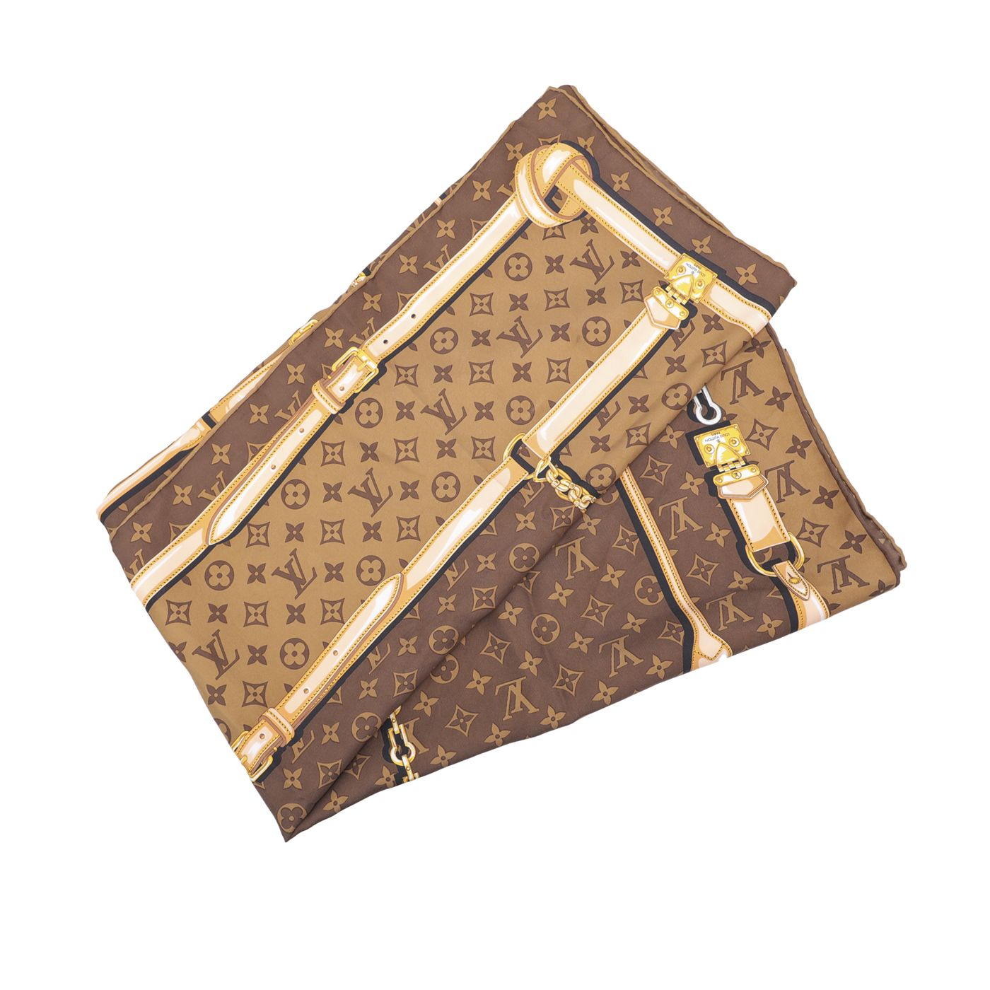 Louis Vuitton Brown Monogram Confidential Square Scarf