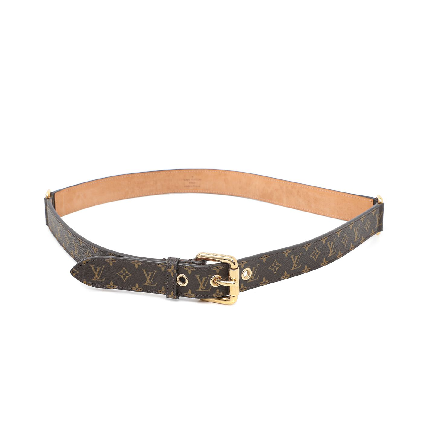 Louis Vuitton Brown Monogram Ceinture Trio Belt 32