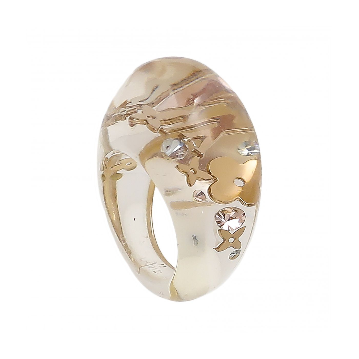 Louis Vuitton Monogram Clear Resin Inclusion Ring