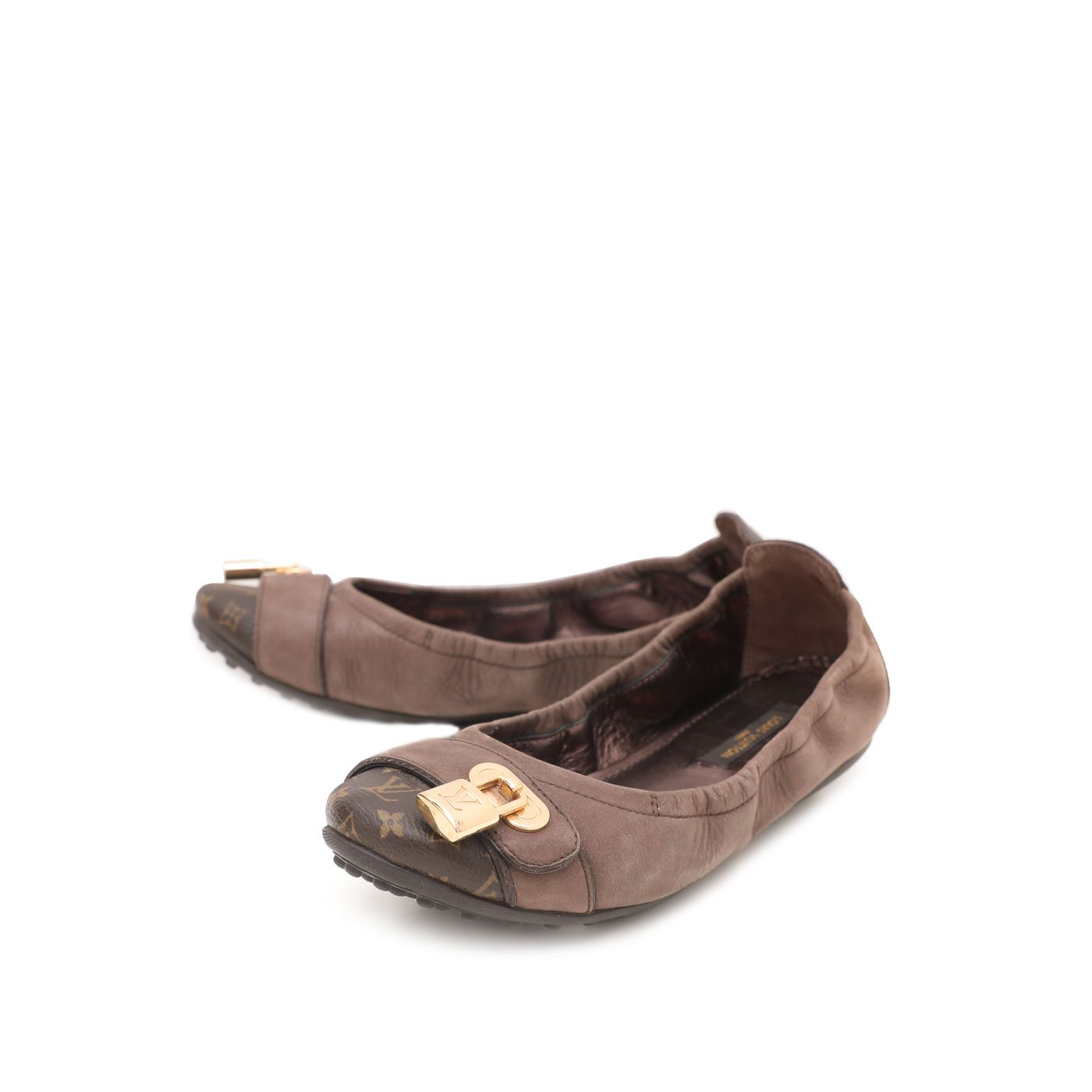 Louis Vuitton Brown Monogram Iridescent Lucky Ballerina Flats 35