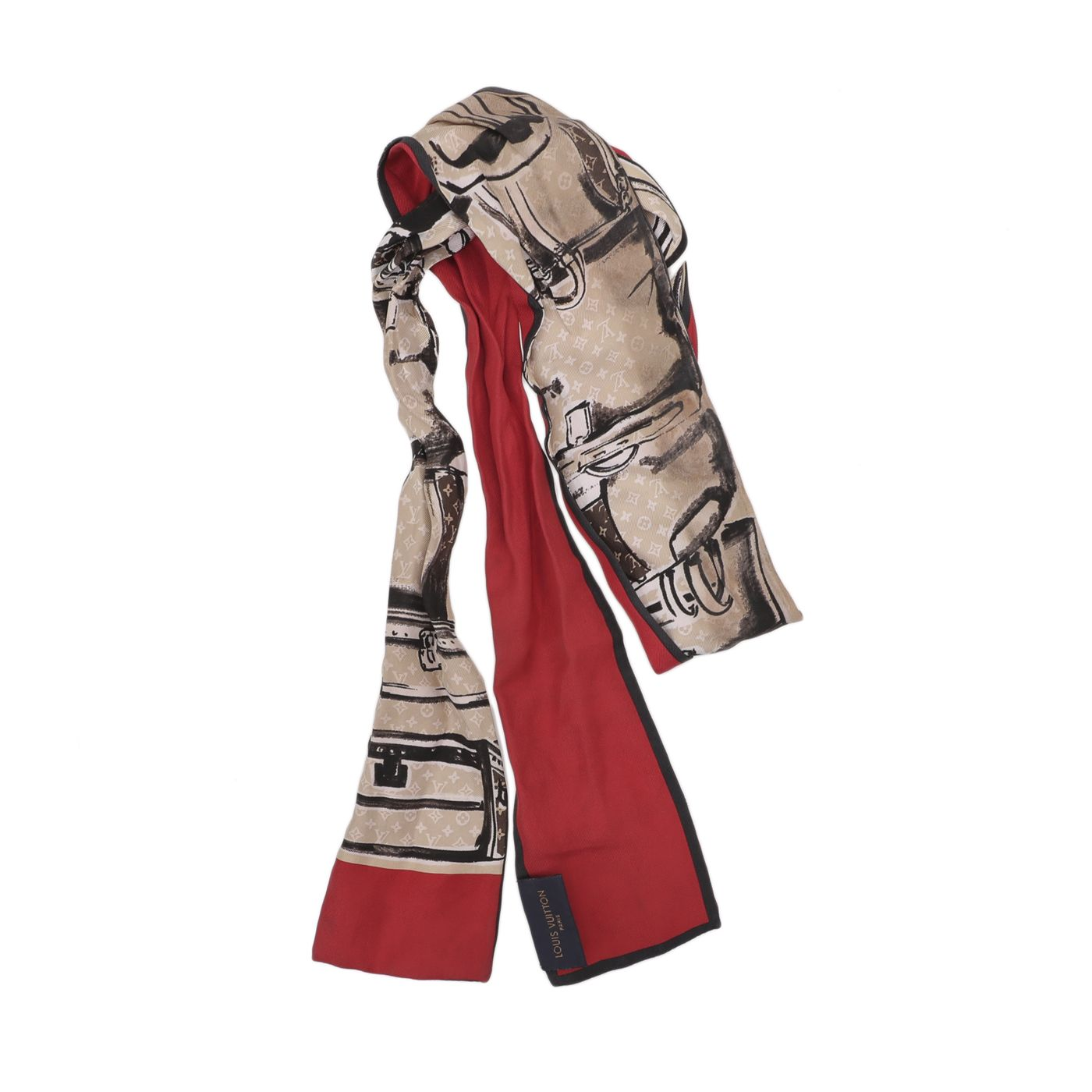 Louis Vuitton Multicolor Trunks Bandeau Twilly Scarf