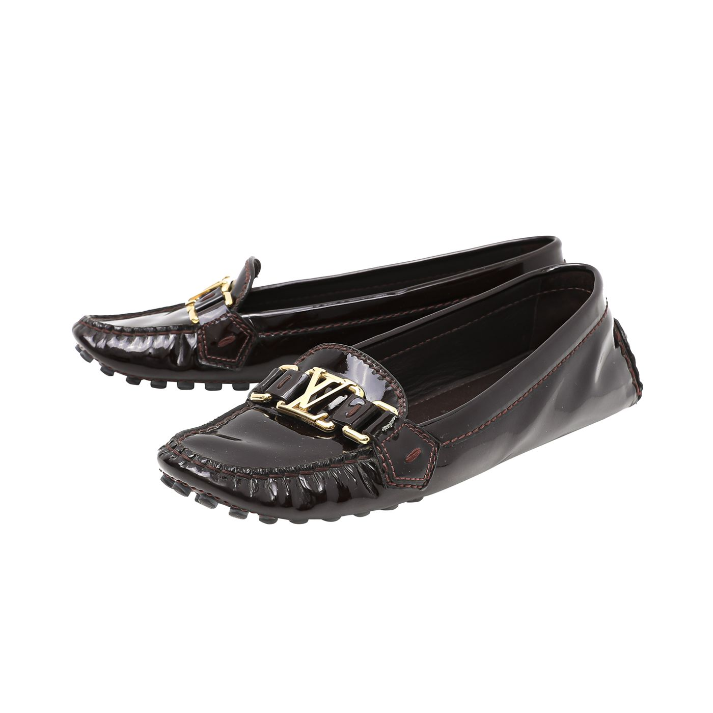 Louis Vuitton Amarante Oxford Float Loafers 36.5