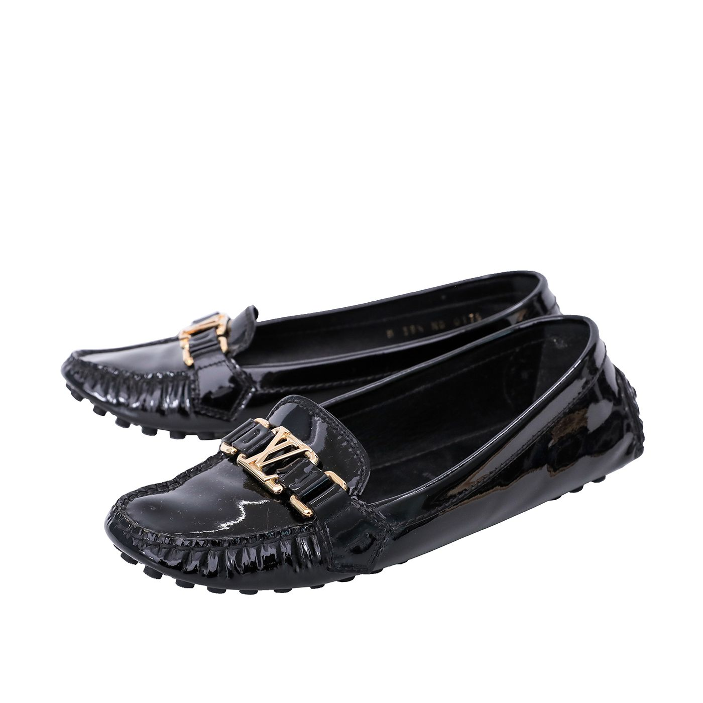 Louis Vuitton Noir Oxford Loafers 38.5