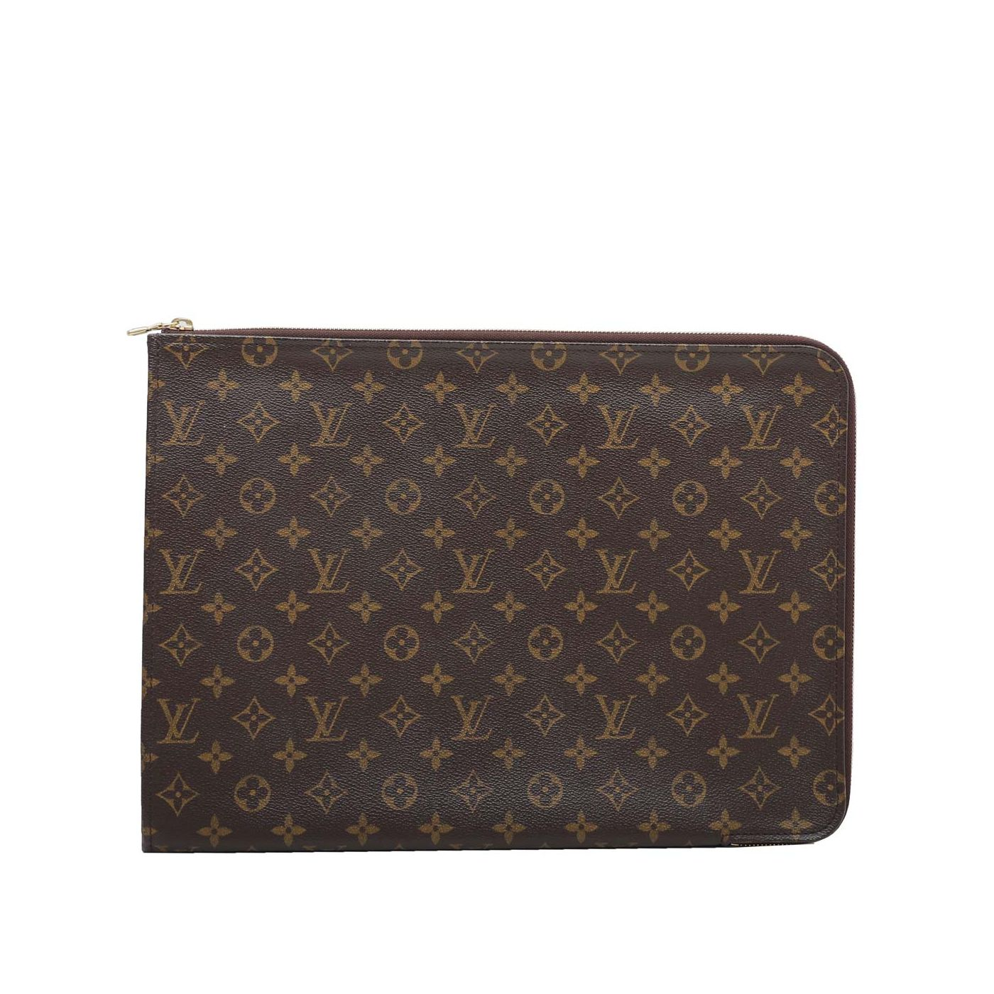 Louis Vuitton Brown Portfolio Poche Documents Case Clutch