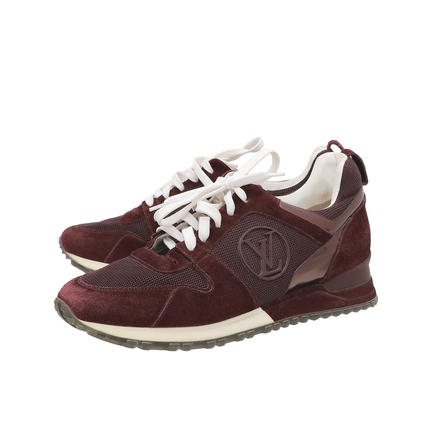 Louis Vuitton Maroon Run Away Sneakers 41