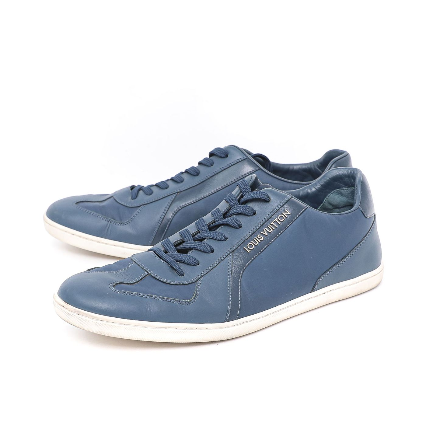 Louis Vuitton Blue Lace Up Sneakers 38