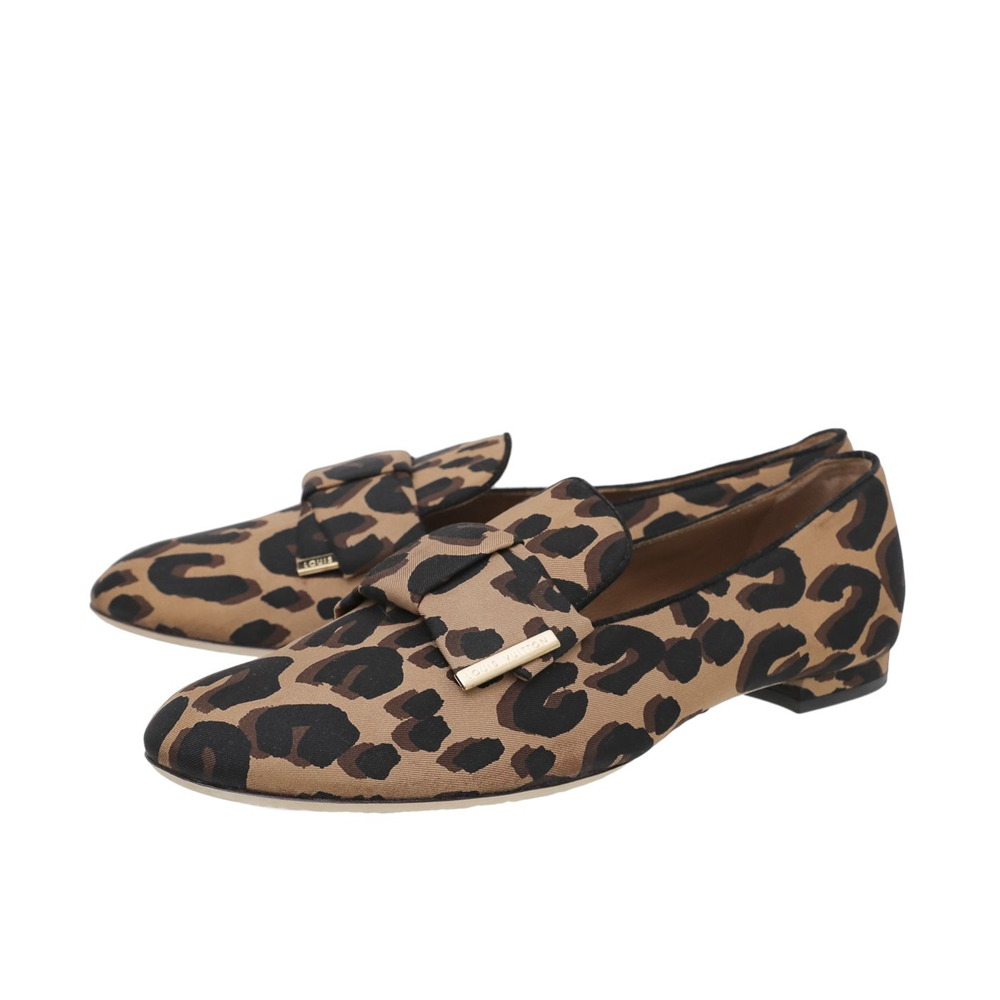 Louis Vuitton Leopard Print Stephen Sprouse Loafers 38.5