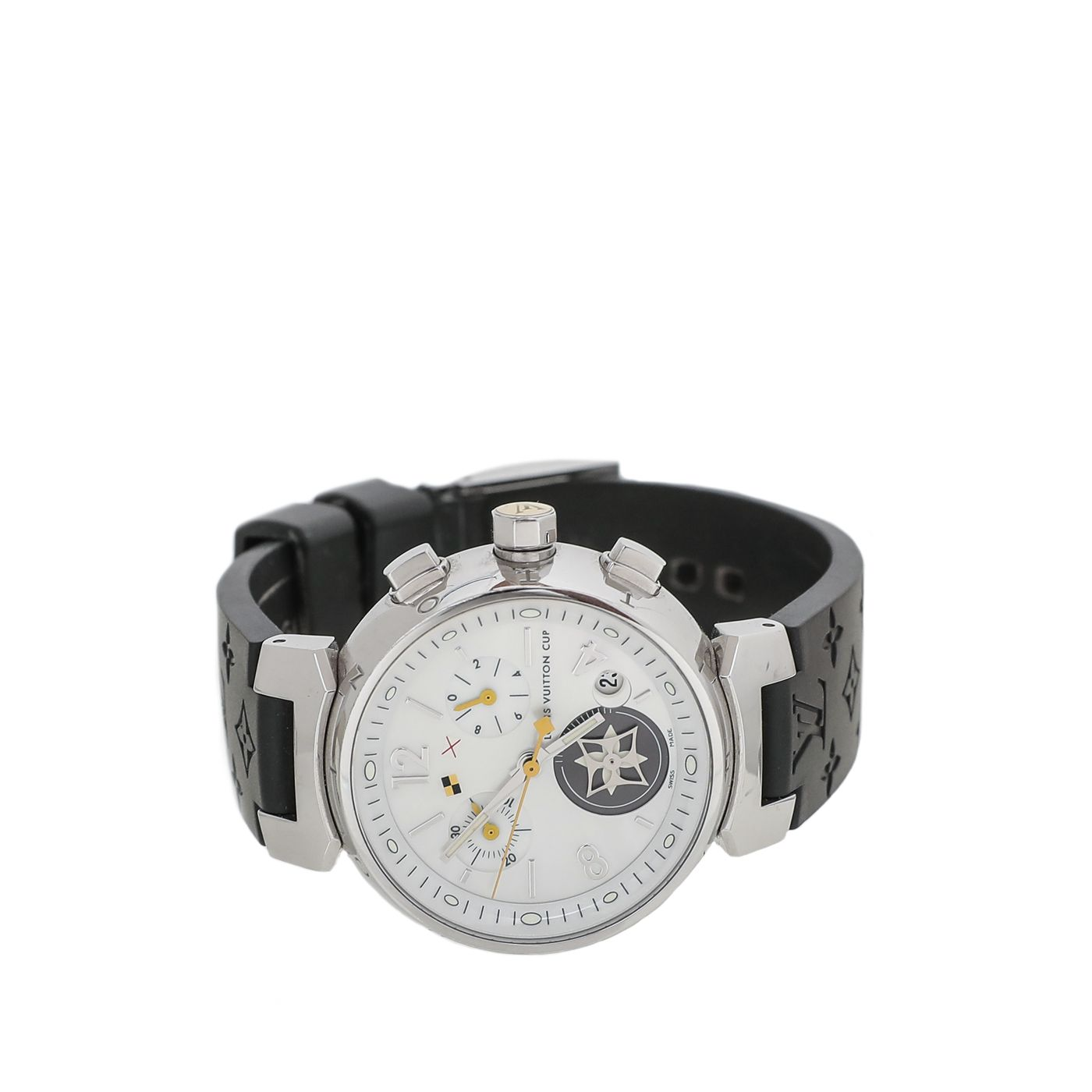 Louis Vuitton Stainless Steel MOP Tambour Lovely Cup Watch