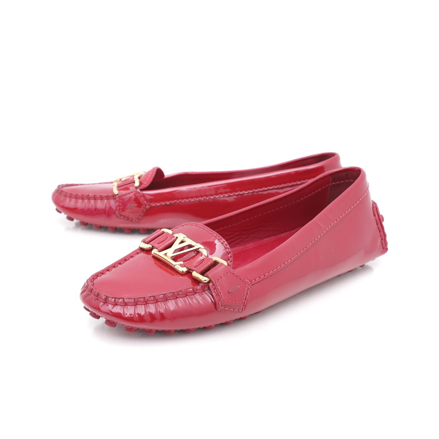 Louis Vuitton Red Vernis Loafer 37