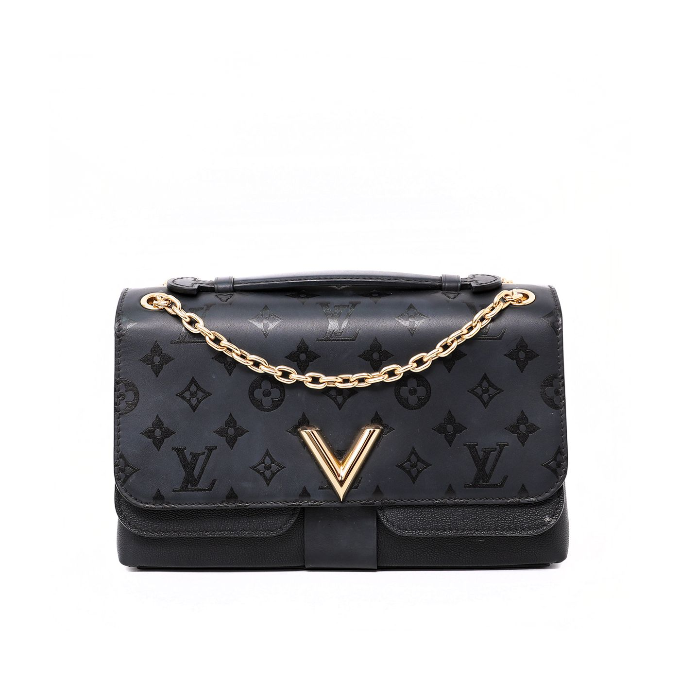 Louis Vuitton Black Monogram Very Chain Bag