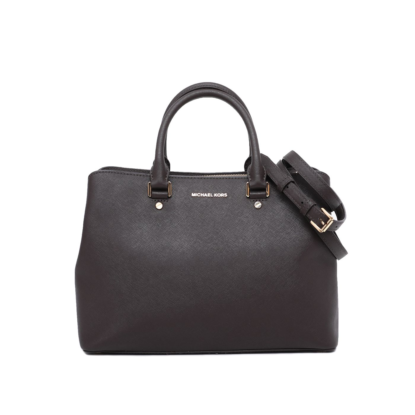 Michel kors Dark Brown Savannah Satchel Tote Bag