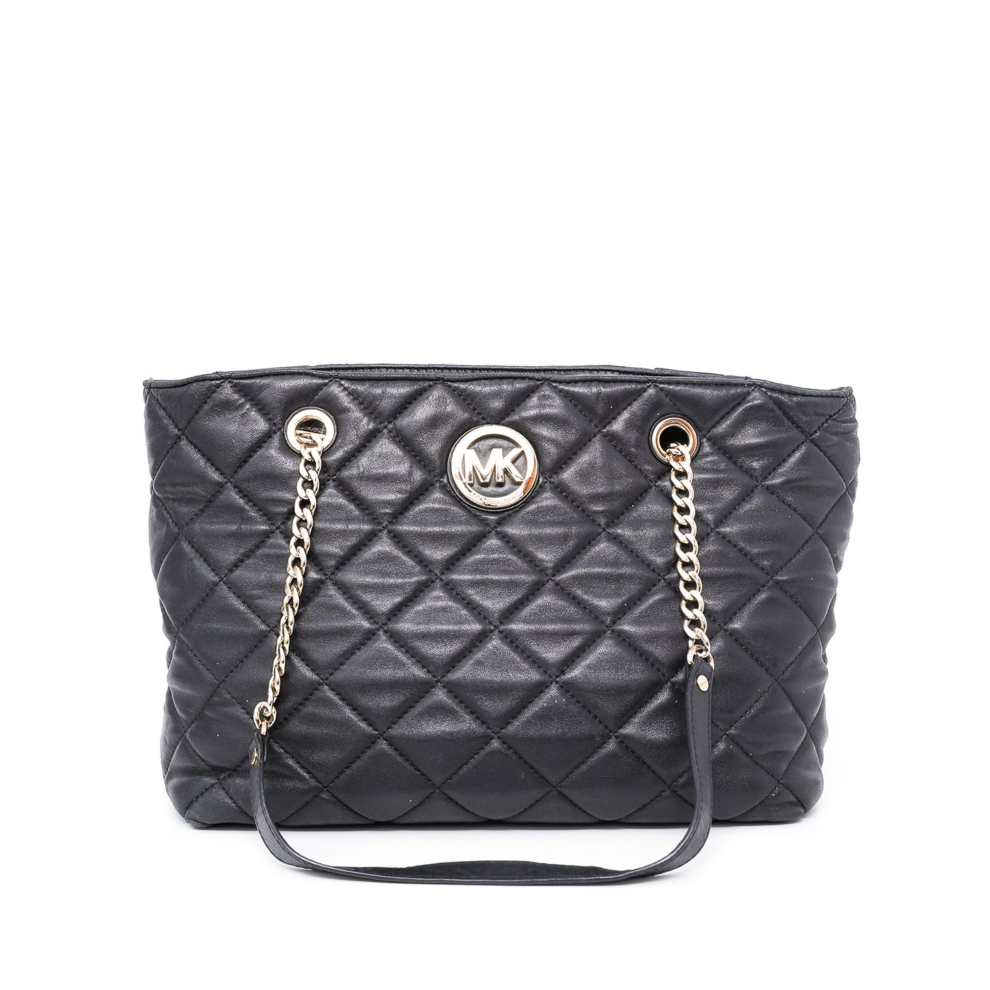 Michael Kors Black Fulton Quilted Shopping Tote