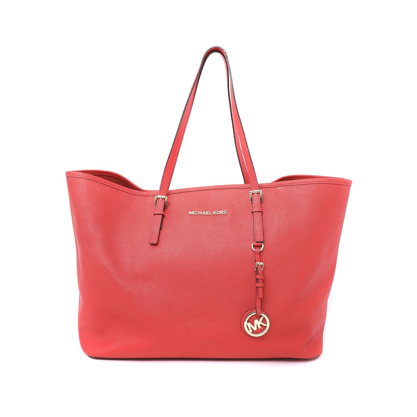 Michael Kors Coral Jet Set Travel Tote Bag