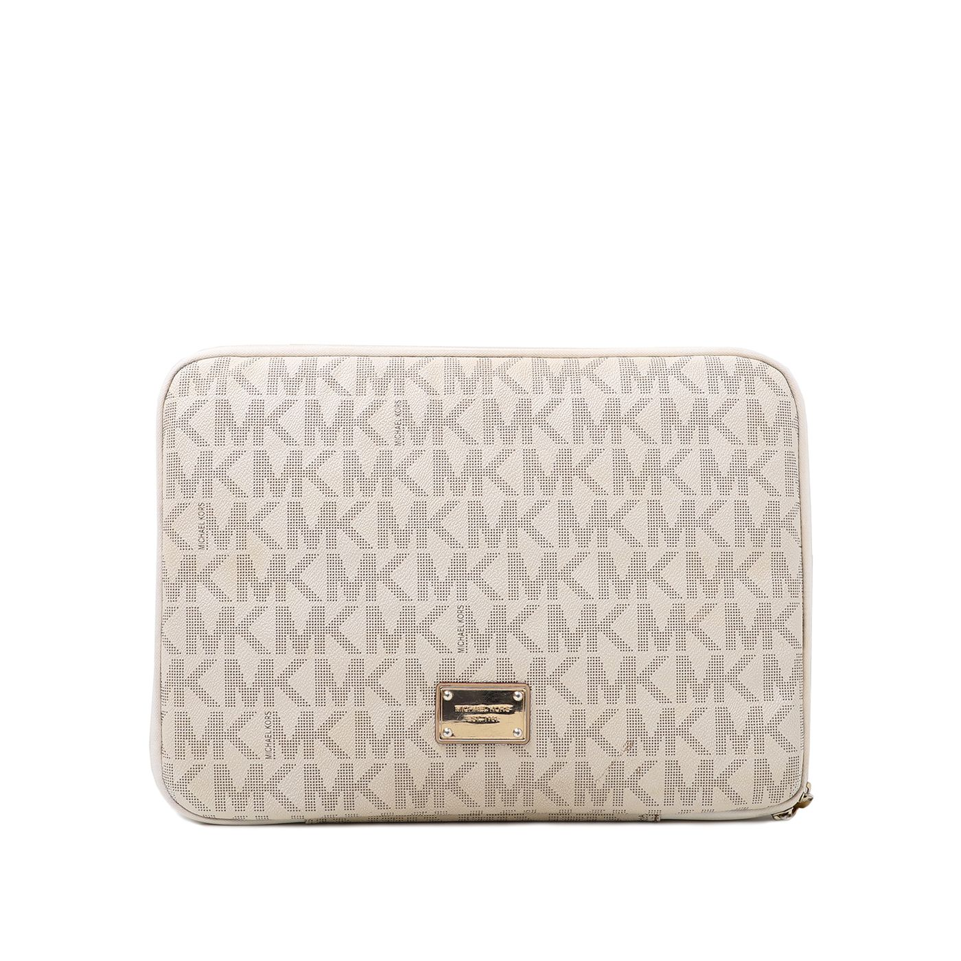 Michael Kors Off White Monogram Laptop Case