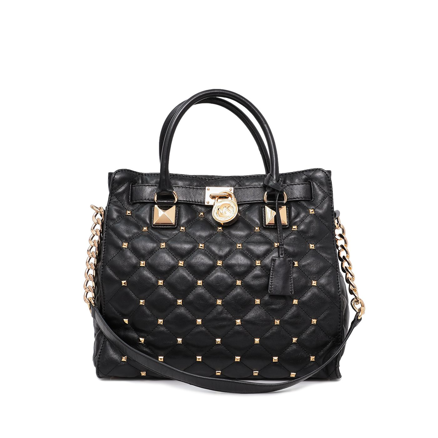 Michael Kors Black Studded Hamilton Bag