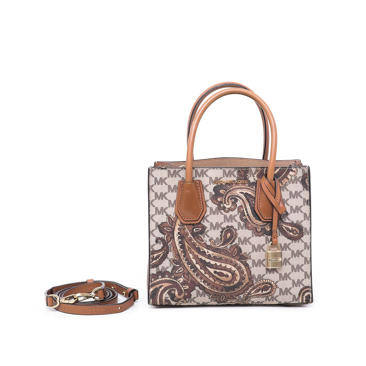 Michael Kors Beige Monogram Paisley Mercer Medium