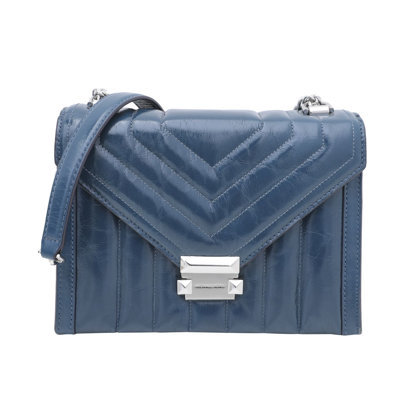 Michael Kors DK Chambray Quilted Whitney Convertible Shoulder Bag