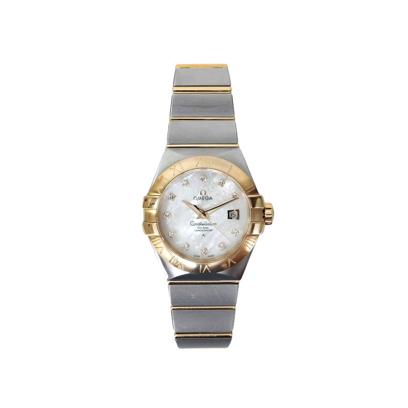Omega Mother of Pearl Diamonds Constellation Co-Axial Watch