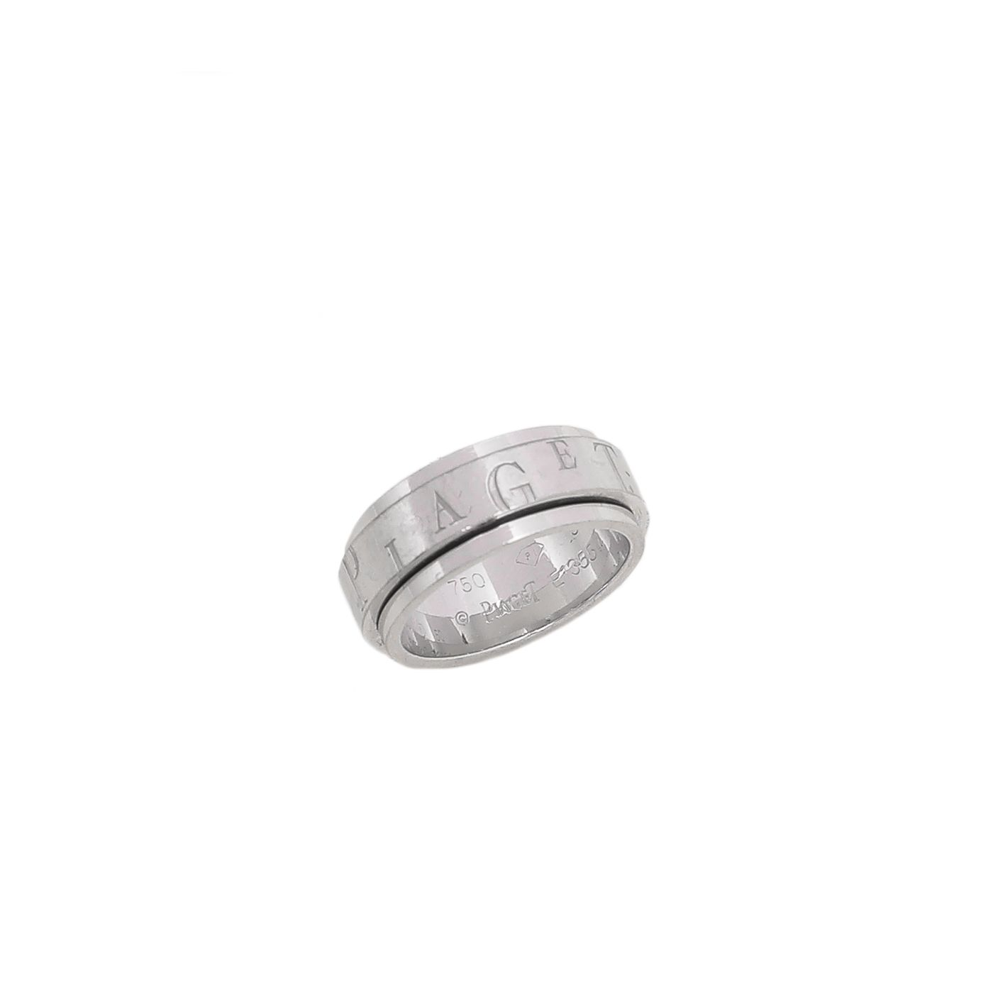 Piaget 18K White Gold Possession Bandeau Logo Motif Ring 50