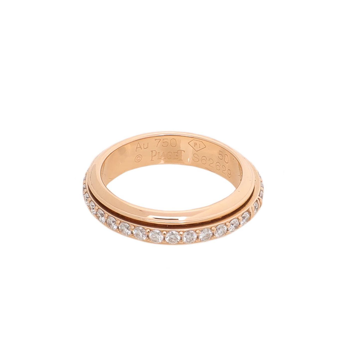 Piaget 18K Rose Gold Diamonds Possession Wedding Ring 50