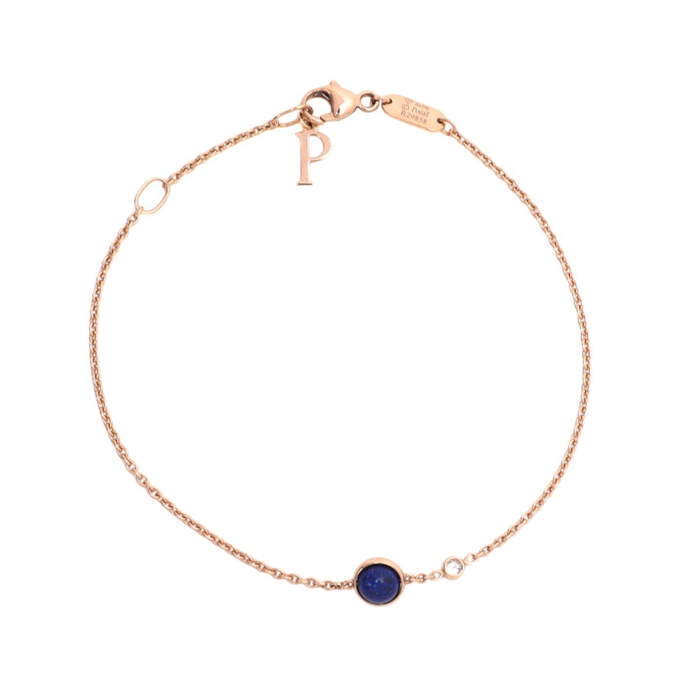 Piaget 18K Rose Gold Possession Lapis Lazuli Diamond Bracelet