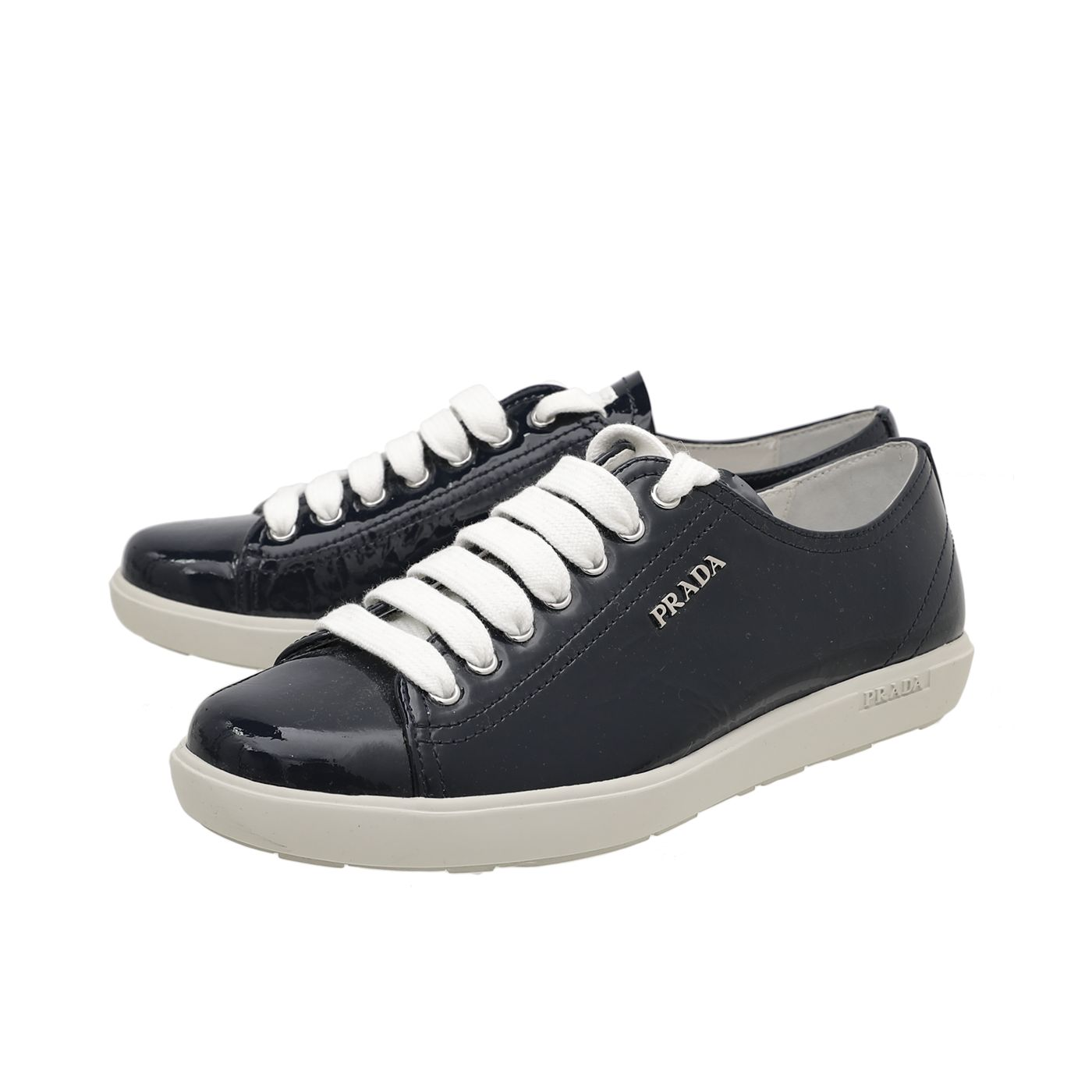 Prada Blue Low Cut Lace Up Sneakers 36.5