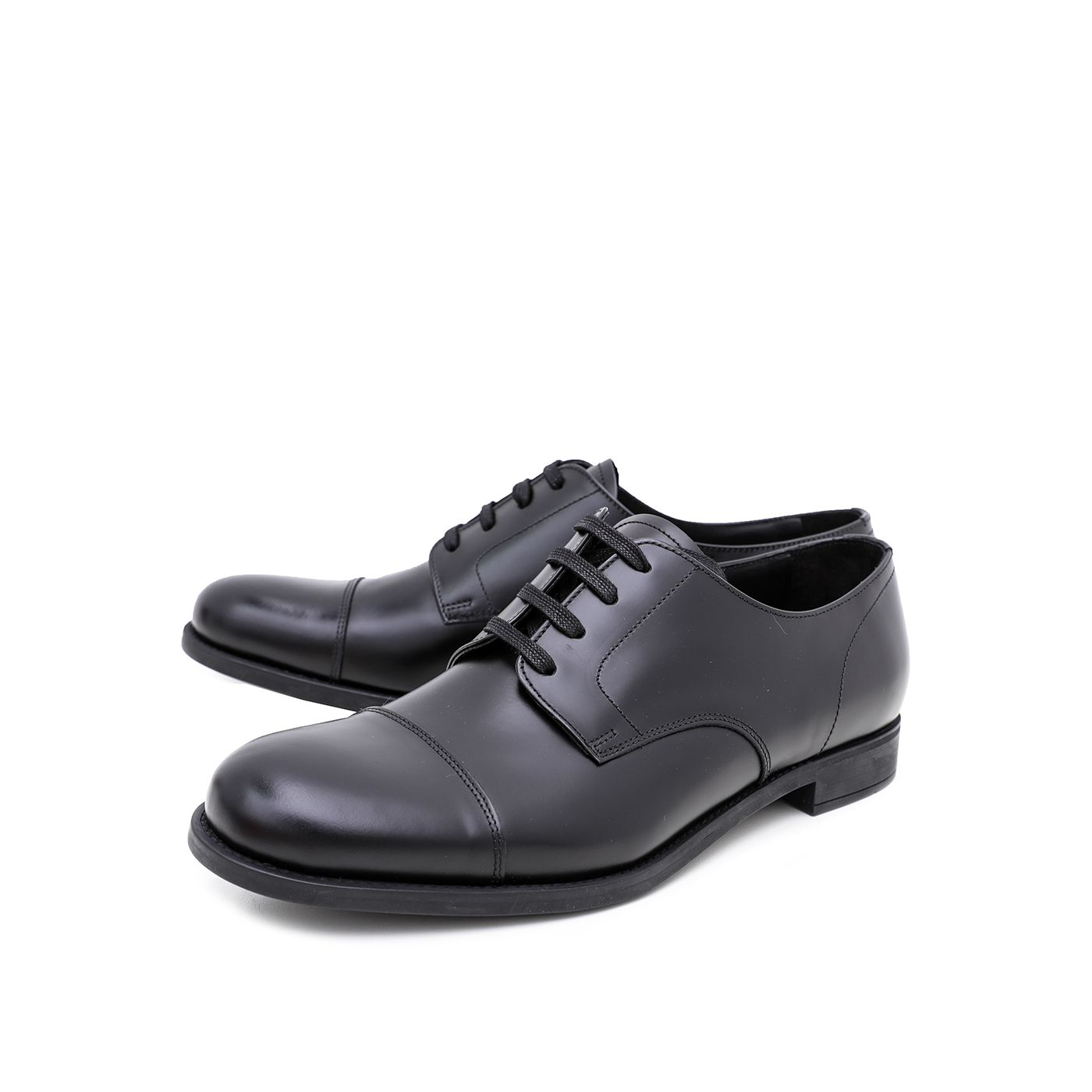 Prada Black Derby Formal Shoes 43