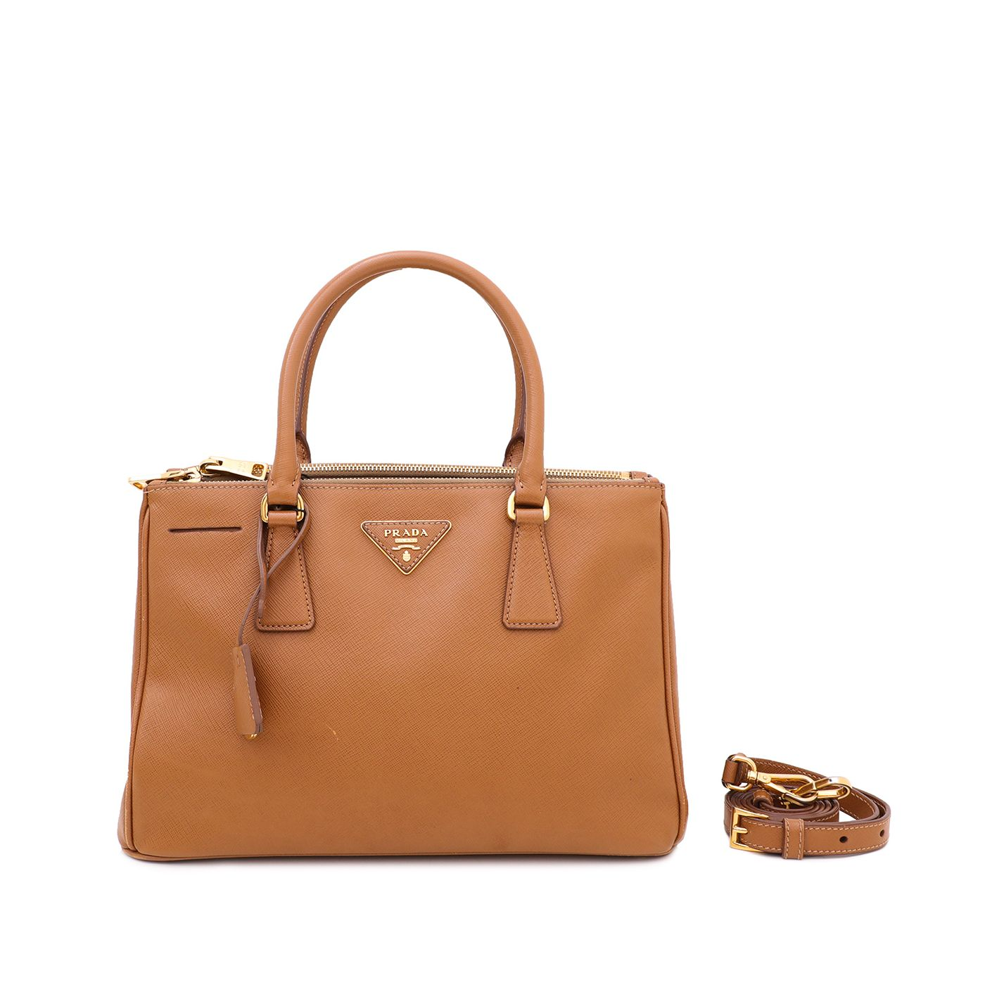 Prada Caramel Galleria Lux Bag Small