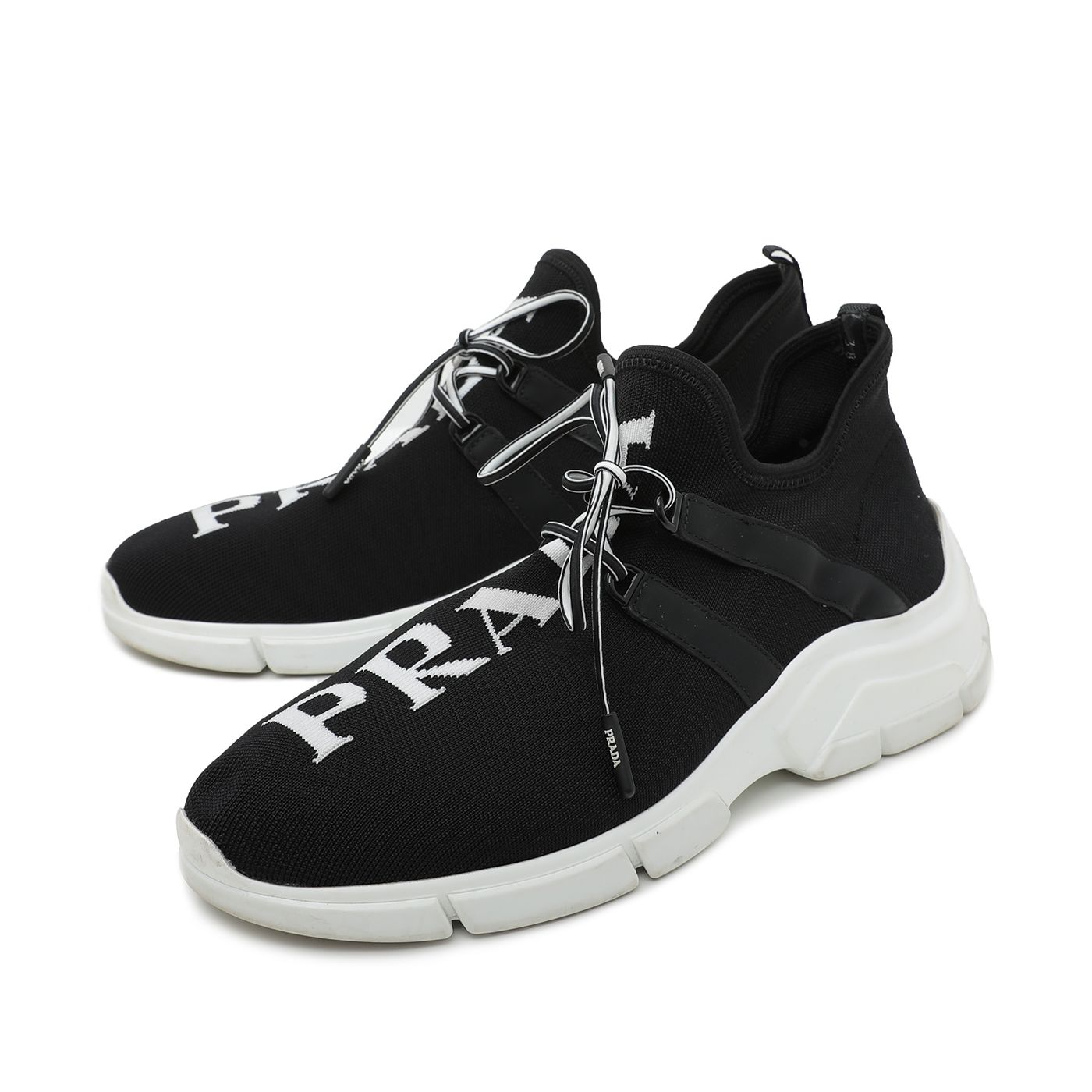 Prada Black Knit Fabric Sneakers
