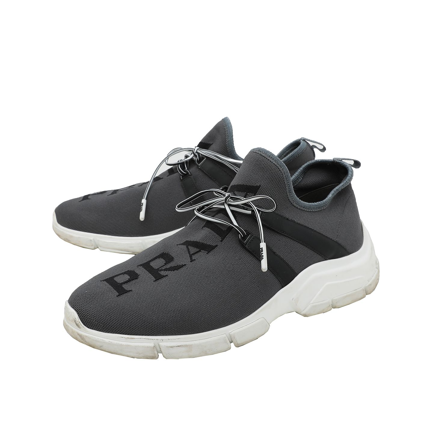 Prada Grey Knit Sneakers 38