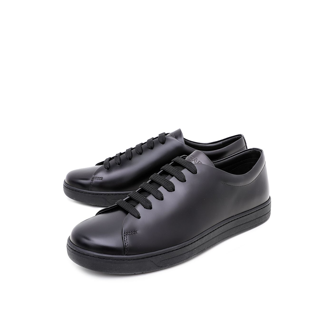 Prada Black Lace Up Sneakers 43