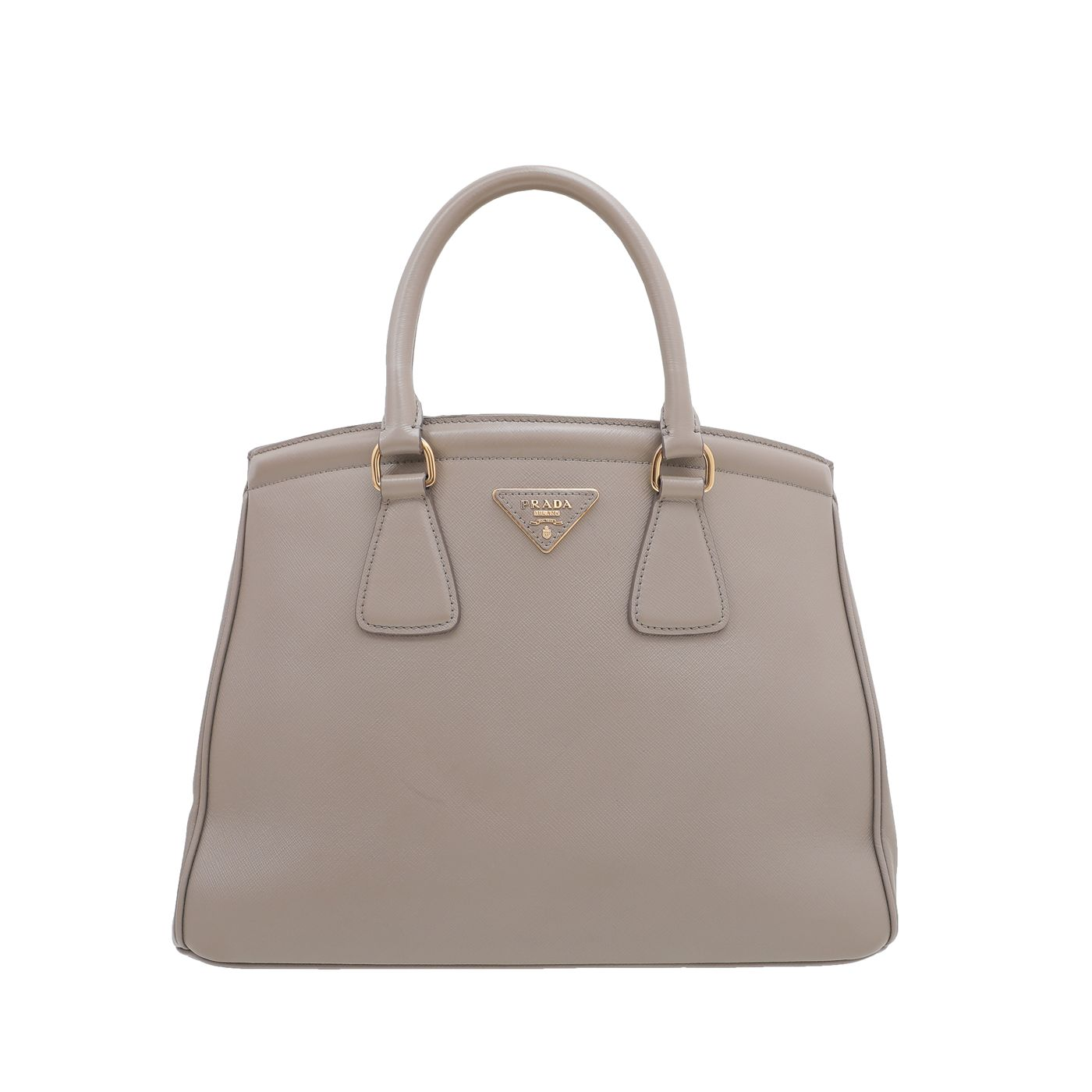 Prada Grey Parabole Medium Tote Bag