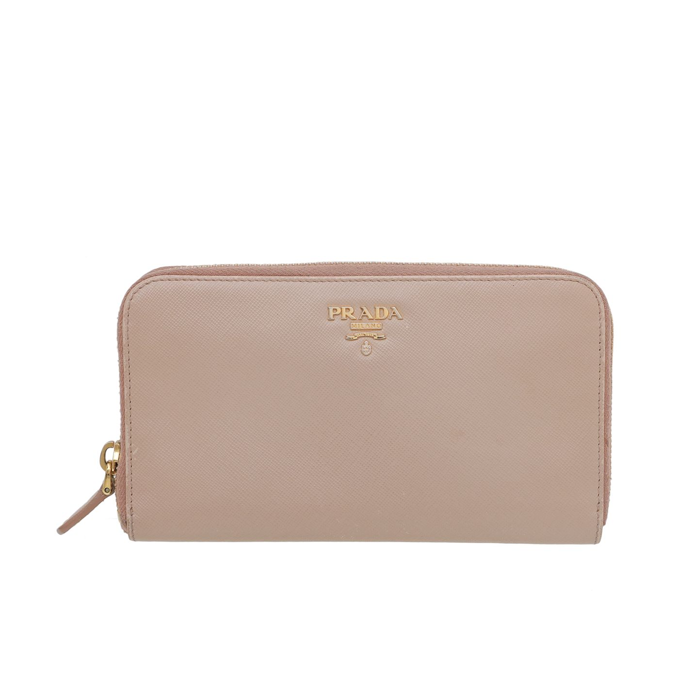 Prada Nude Zip Around Wallet