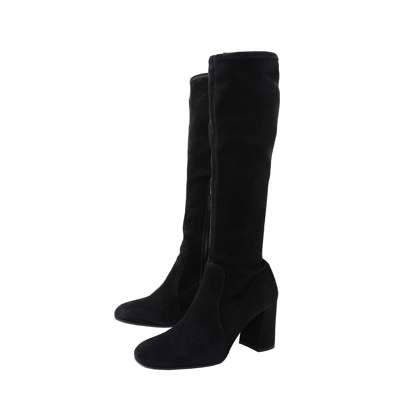 Prada Black Stretch Knee High Boots 37.5