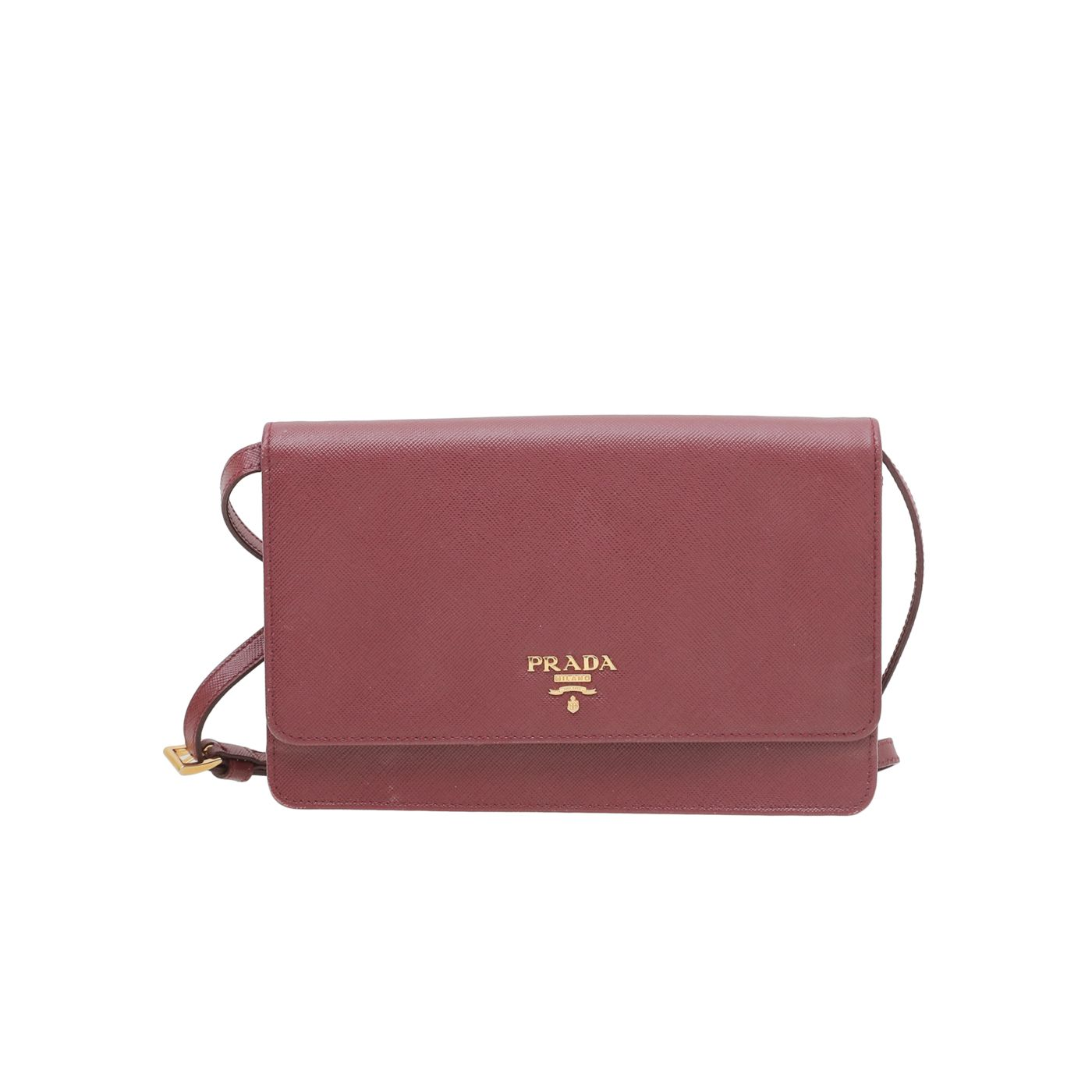 Prada Cerise Wallet On Strap