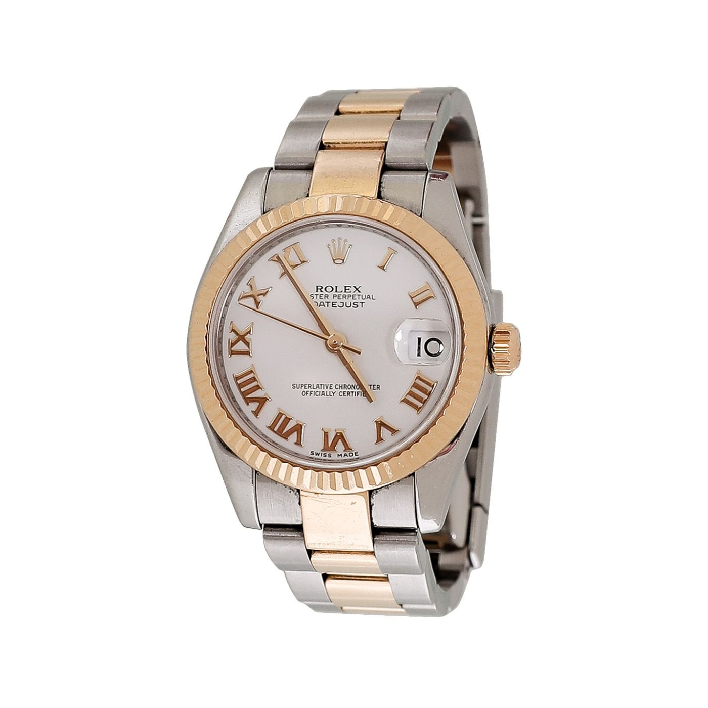 Rolex 18K Yellow Gold Steel Lady Datejust Watch