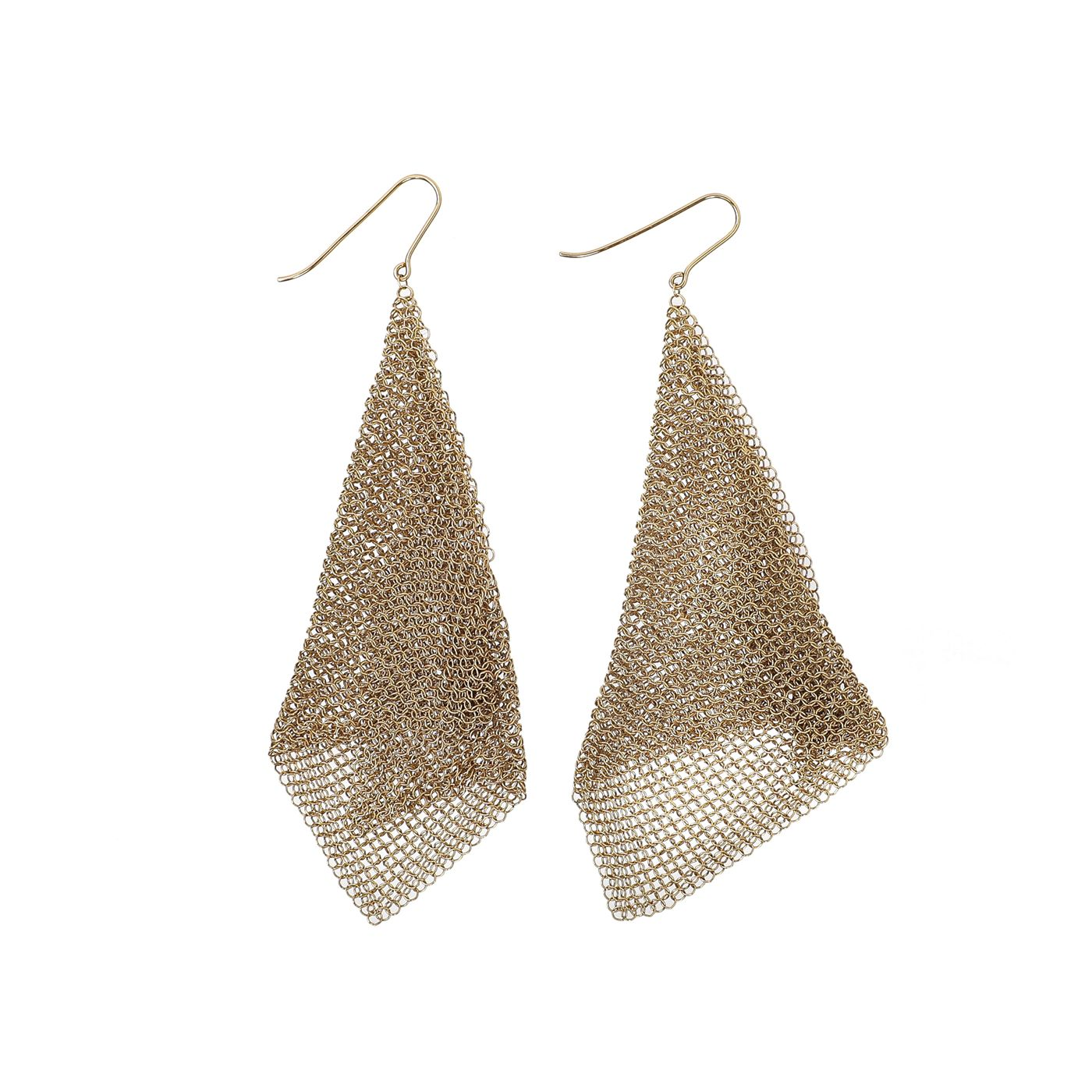 Tiffany & Co 18K Yellow Gold Elsa Peretti Mesh Dangling Earring