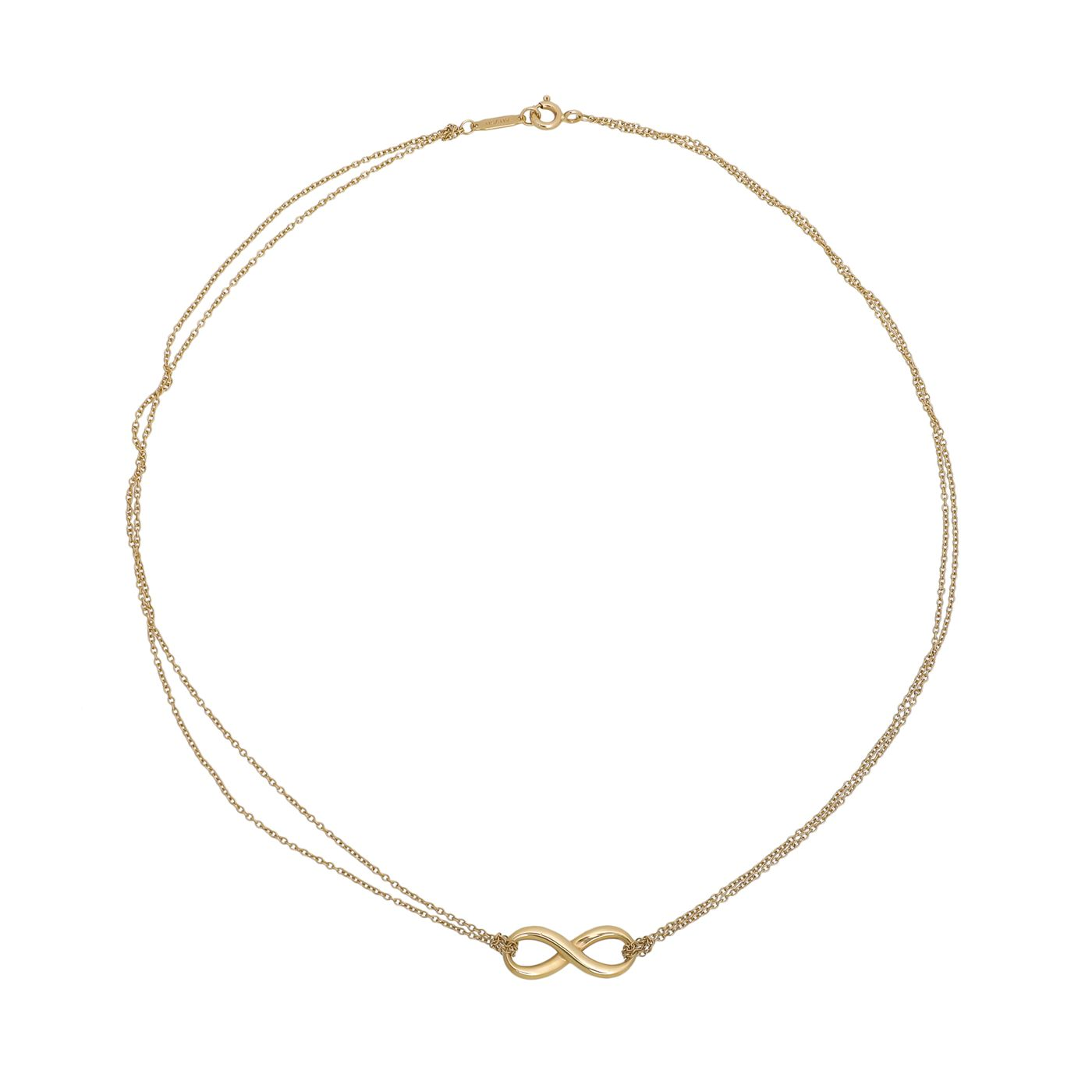 Tiffany & Co 18K Yellow Gold Infinity Pendant Necklace
