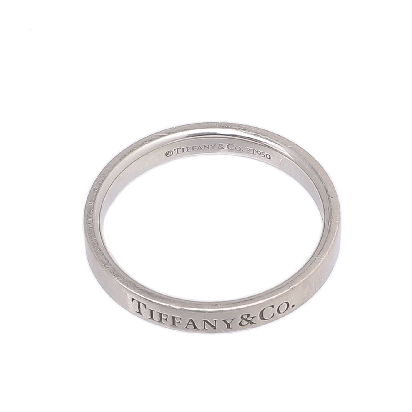 Tiffany & Co Platinum 3mm Wide Band Ring 8.5