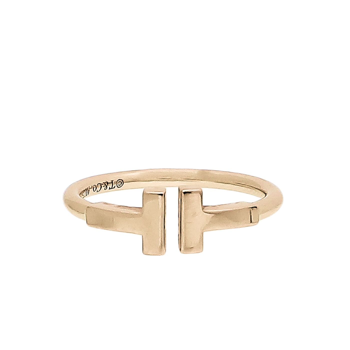 Tiffany & Co 18K Pink Gold T Wire Ring 51
