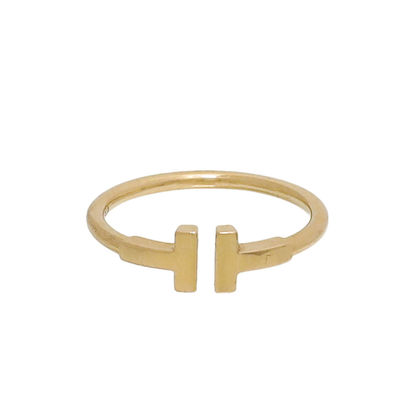 Tiffany & Co 18K Rose Gold T Wire Ring 54